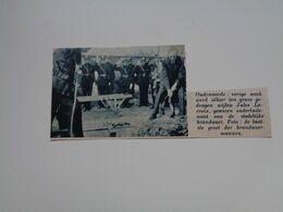 """Origineel Knipsel ( 6066 ) Uit Tijdschrift """"  De Stad """"  1937 :   Pompier Jules Lacroix   Brandweer  Oudenaarde - Alte Papiere"""