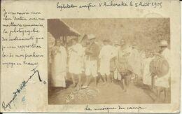 RARE , MADAGASCAR , Exploitation Aurifère D' ANKORAKA , 1905 , Carte Photo ANIMEE , Voir Scans - Madagascar