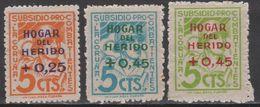 1938 LA CORUÑA HOGAR DEL HERIDO SERIE COMPLETA NUEVA**. ESCASA - Asturias & Leon