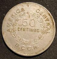 COSTA RICA - 50 CENTIMOS 1976 - KM 189.3 - Grand 50 , Variantes - Costa Rica