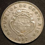 COSTA RICA - 1 COLON 1972 - KM 186.3 - Grands Bateaux , 7 étoiles Dans Les Armoiries , 9.74g - Costa Rica