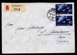 A6743) Schweiz 2 Briefe Aus 1947-1949 Mit Schöner Frankatur - Covers & Documents