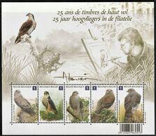 2010 Belgium Birds Of Prey Minisheet (** / MNH / UMM) - Aigles & Rapaces Diurnes