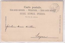 Telegraphenstempel Von Zermatt Auf Ansichtskarte - Peter Fassbaender - Verl.Hug - 1899        (00814) - Telégrafo