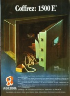 "PUB  COFFRE-FORT "" CLEF ROUGE  ""  1976 ( 1  ) - Altri"