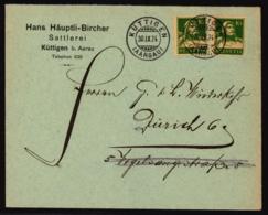 153 Auf Firmen-Brief - Hans Häuptli-Bircher Sattlerei Küttigen Bei Aarau - Gestempelt Küttigen - Lettres & Documents