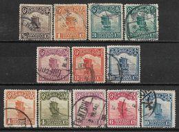 1913-1923 CHINA SET OF 12 USED STAMPS (Michel # 148II,149II,152II,154II,157II,158I,188,193-195,198) CV €4.70 - Chine