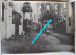 1915 Hopital De Fortune Dans Une église Pas De Calais Service De Santé 1914-1918 Poilu Tranchée 14-18 Ww1 Photo - Guerra, Militari