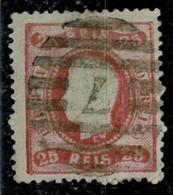 """Portugal, 1867/70, # 30, Almada """"7"""", Used - Usado"""