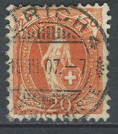 XX-/-572.- ZUMSTEIN N° 86A, OBL., PAPIER BLANC  - DENT 11½ X 11 - COTE 3.00 € -  IMAGE DU VERSO SUR DEMANDE - Gebraucht