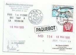 YT 229 Albatros à Tête Grise - Posté à Bord Du MD - Paquebot - La Réunion - Le Port - 19/05/1999 - Lettres & Documents
