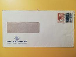 1965 BUSTA INTESTATA  DANIMARCA DENMARK BOLLO CENTENARIO TELECOMUNICAZIONI  ANNULLO OBLITERE' KOBENHAVN - Lettere
