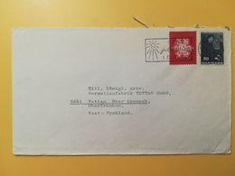 1966 BUSTA DANIMARCA DENMARK BOLLO 100 ANNI ANNIVERSARY GEORG ARTHUR JENSEN  ANNULLO OBLITERE' KOBENHAVN - Lettere