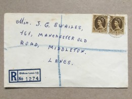 GB Elizabeth Registered Oldham Cover 1965 To Middleton - Briefe U. Dokumente
