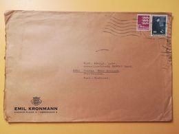 1966 BUSTA INTESTATA DANIMARCA DENMARK BOLLO 100 ANNI ANNIVERSARY GEORG ARTHUR JENSEN  ANNULLO OBLITERE' KOBENHAVN - Lettere