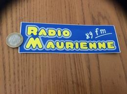 AUTOCOLLANT, Sticker «RADIO MAURIENNE 89 FM» - Aufkleber