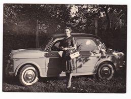 "AUTOMOBILE ""FIAT 1100"" - AUTO - CAR - DONNA - FOTOGRAFIA ORIGINALE - Cars"