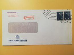 1966 BUSTA INTESTATA RACCOMANDAT DANIMARCA DENMARK BOLLO 100 ANNIVERSARY GEORG ARTHUR JENSEN ANNULLO OBLITERE' KOBENHAVN - Lettere
