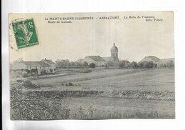 70 - La  Haute-Saône  Illustrée - ABELCOURT - La Halte Du Tramway. Route De Luxeuil.  Carte Adressée à Francalmont - Frankreich
