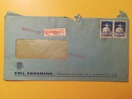 1962 BUSTA INTESTATA RACCOMANDAT DANIMARCA DENMARK BOLLO BALLETTI FESTIVAL ANNULLO OBLITERE' KOBENHAVN - Lettere