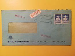 1965 BUSTA INTESTATA RACCOMANDATA DANIMARCA DENMARK BOLLO BALLETTI FESTIVAL ANNULLO OBLITERE' KOBENHAVN - Lettere