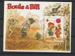 FRANCE BLOC ET FEUILLET CROIX ROUGE 2002 YT N° BF 46 ** BOULE ET BILL - Bloc De Notas & Hojas