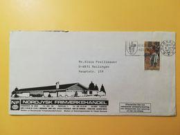 1977 BUSTA INTESTATA TEMATICA DANIMARCA DENMARK BOLLO INTERNATIONAL EXHIBITION HAFNIA 76 ANNULLO OBLITERE' HJORRING - Briefe U. Dokumente