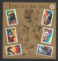 FRANCE BLOC ET FEUILLET CROIX ROUGE 2002 YT N° BF 50 ** JAZZ - Bloc De Notas & Hojas