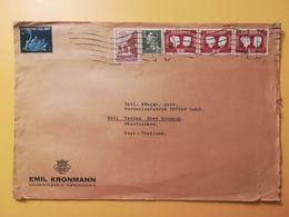1967 BUSTA INTESTATA DANIMARCA DENMARK BOLLO  WEDDING QUEEN AND KING ANNULLO OBLITERE' KOBENHAVN - Lettere