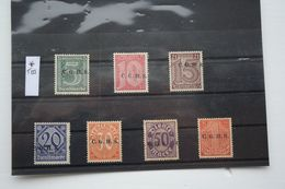 Oberschlesien/Upper Silesia Type III  7 Mint Stamps Set - Abstimmungsgebiete
