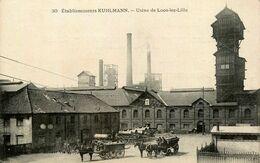 Lille * Loos Lez Lille * Etablissements KUHLMANN * Usine * PUB De L'usine De Lille Avec Avis D'expédition , Au Dos - Loos Les Lille