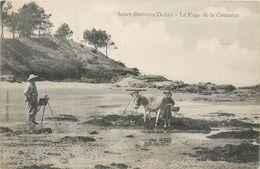 CPA 44 Loire Atlantique Saint-Brevin-l'Océan La Plage De La Courance Ane Peintre Enfant - Saint-Brevin-l'Océan
