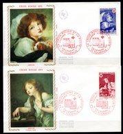 """FDC FRANCE 1971 - N° 1700 Et 1701 - Au Profit De La Croix-Rouge - """"Oeuvres De Greuze"""" - 1970-1979"""