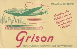 BUVARD(ENTRETIEN DE CHAUSSURE GRISON) AVIATION - Carte Assorbenti