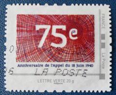 France  MonTimbraMoi  75 Ieme Anniversaire De L'Appel Du 18 Juin 1940  Oblitéré - Frankreich