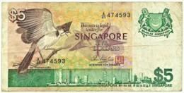 Singapore - 5 Dollars - ND ( 1976 ) - Pick: 10 - Serie A/41 - Singapore