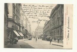 CARTE POSTALE DE BUDAPEST POUR LA FRANCE  FEVRIER 1917. LA PLACE DES FRANCISCAINS. - Hungary