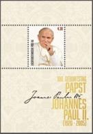"Liechtenstein 2020: ""Papst Johannes Paul II"" Block Mit Selbstklebe-Marken Bloc Avec Timbre Auto-adhesiv ** (DieMarke Li) - Papes"