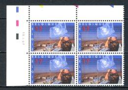 BE   2692  XX   ---  Casque Bleus  --  Bloc De 4 Coin De Feuille  --  Parfait état - Dated Corners