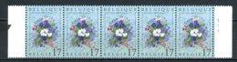 BE   2702  XX   ---  Floralies De Liège  --  Bande De 5 Avec N° De Planche 1  --  Parfait état - Unused Stamps