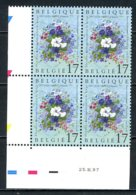 BE   2702  XX   ---  Floralies De Liège  --  Bloc De 4 Coin De Feuille  --  Parfait état - Dated Corners