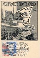 Rallye Monte-Carlo XXXIIIeme  -  1963 Carte Maximum  -  Monaco Premier Jour - Rallyes