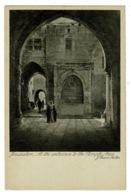 Ref 1393 - Early Holyland Postcard - Temple Entrance - Jerusalem Palestine Israel - Israel