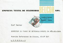 Empresa Textil BELCOR  Advertising Envelope , Felgueiras , 1972 - Werbung