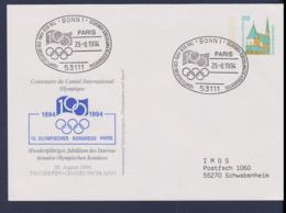 Germany Postal Stationary 1994 Bonn   100 Years IOC (G115-5) - Sonstige