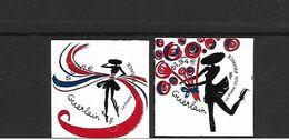 2020 COEURS GUERLAIN  ADHESIFS    VALEUR FACIALE 0.97 ET 1.94€ NEUFS** - Adhesive Stamps