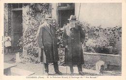 "27-COCHEREL- M. LE PRESIDENT BRIAND A L'AUBERGE DU "" BON ACCUEIL "" - Otros Municipios"