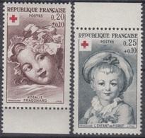 FRANCE : RARES CROIX ROUGE N° 1366a + 1367a NEUFS ** SANS CHARNIERE - COTE 220 € - Variétés Et Curiosités