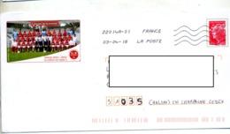 Pap Beaujard  Flamme Chiffree Illustré Football Club Reims Montee - Ganzsachen