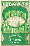 """8929"""" LISOTTI-MENTA GLACIALE-DISTILLERIA EMILIANA P- LISOTTI & C.-MODENA """"- ETICHETTA ORIGINALE - Other"""